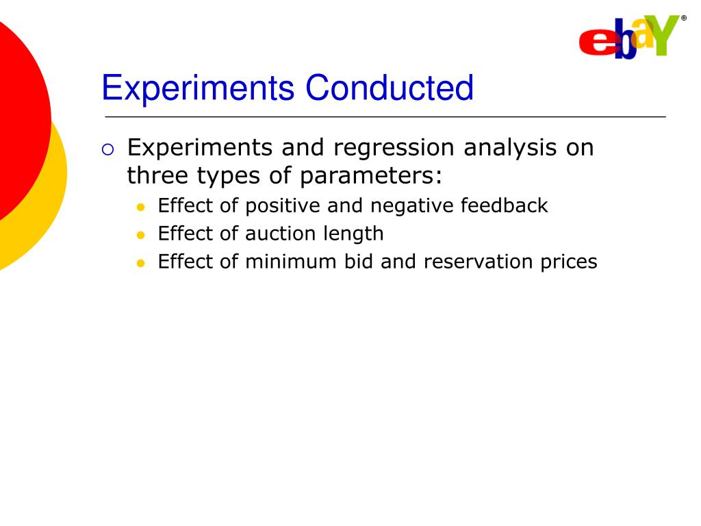 Experiments Conducted
