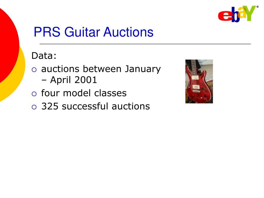 PRS Guitar Auctions