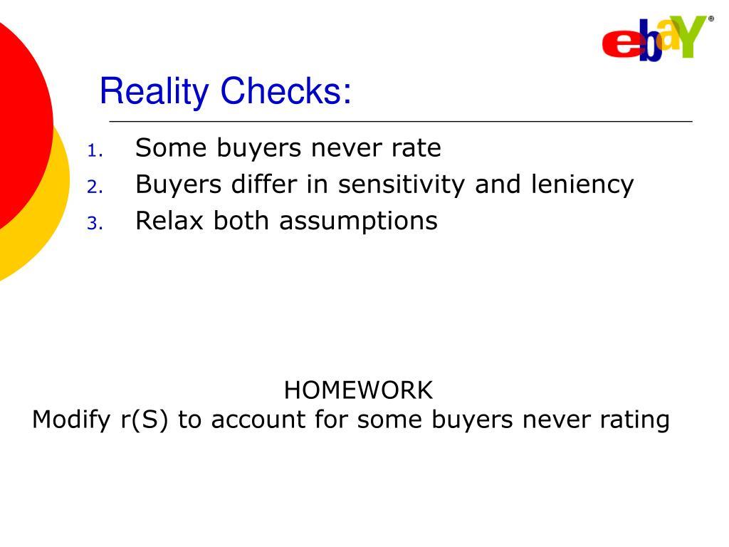 Reality Checks: