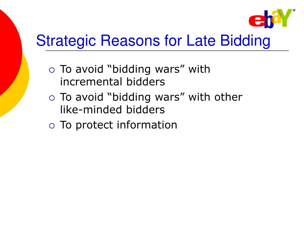 Strategic Reasons for Late Bidding