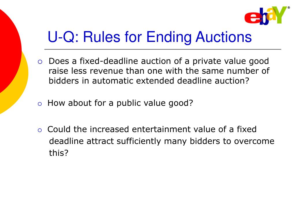 U-Q: Rules for Ending Auctions