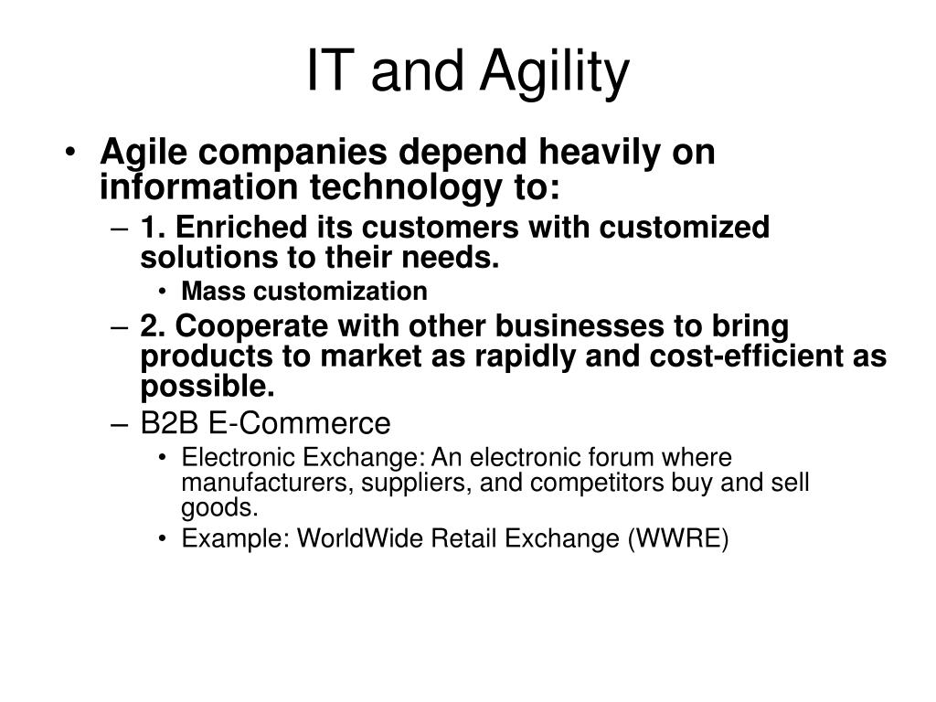 IT and Agility