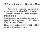 it doesn t matter nicholas carr