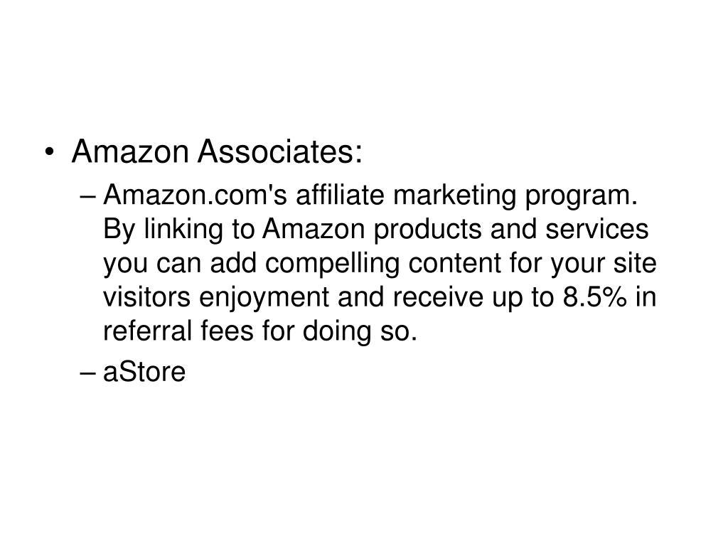 Amazon Associates: