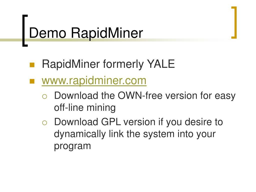 Demo RapidMiner