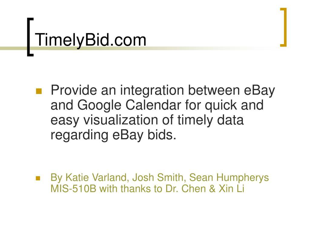 TimelyBid.com