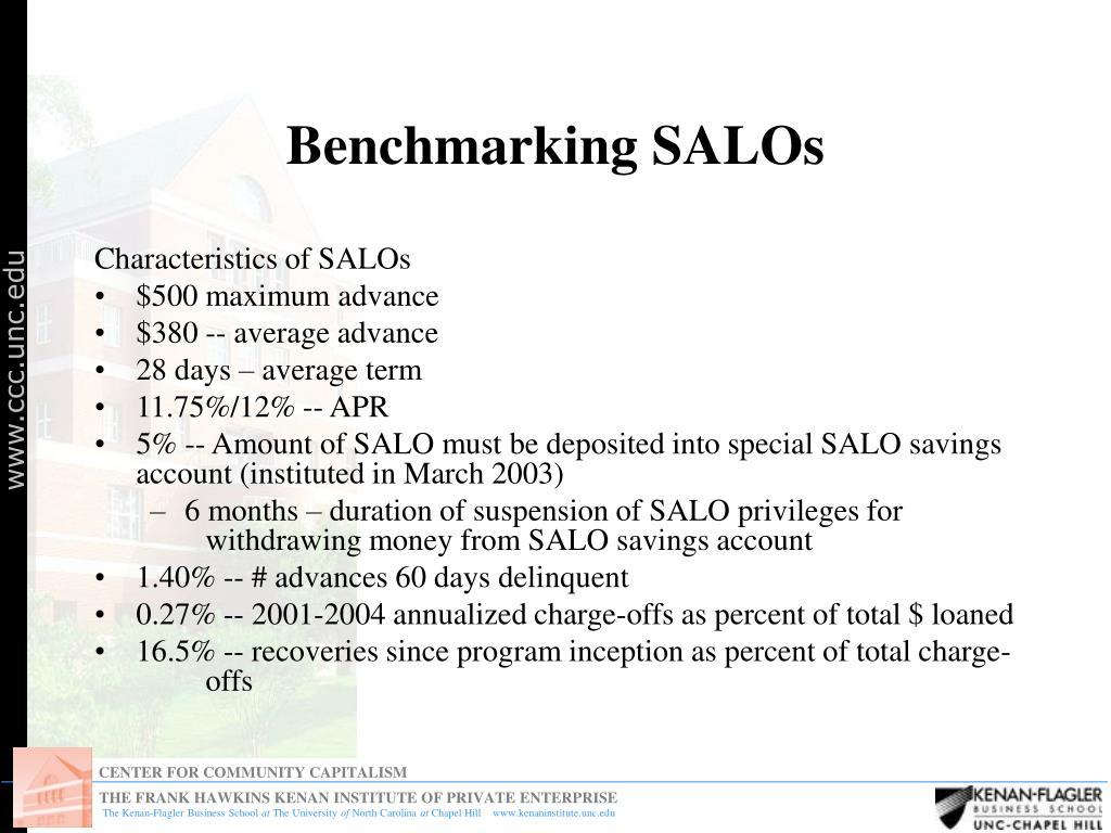 Benchmarking SALOs