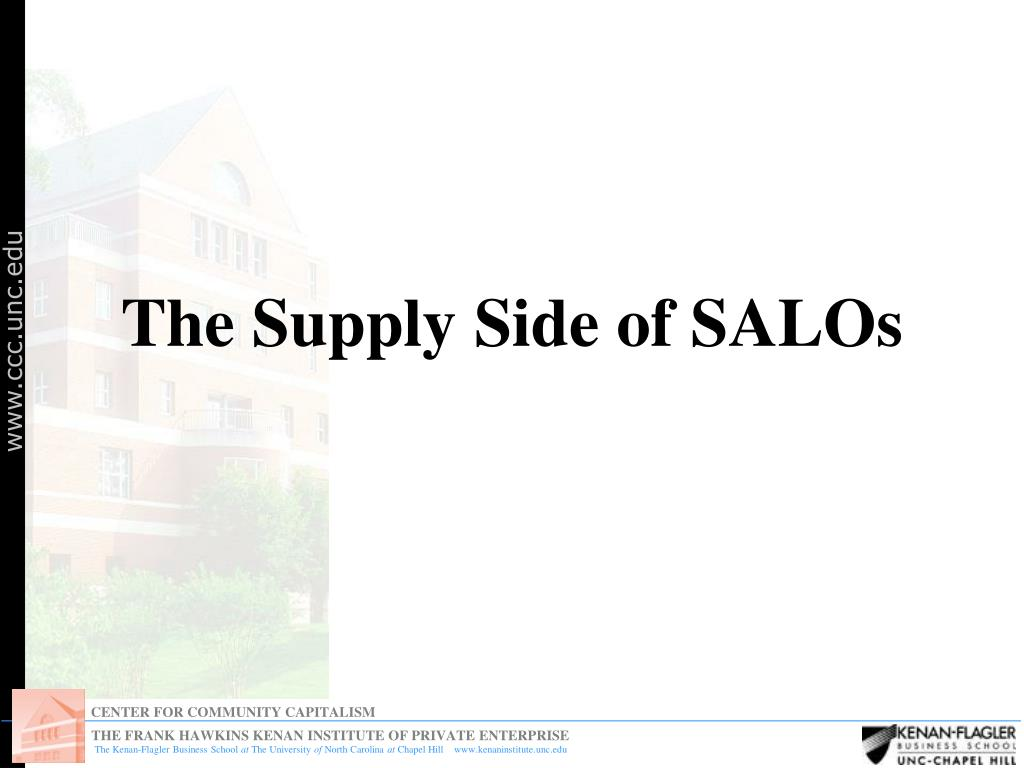 The Supply Side of SALOs