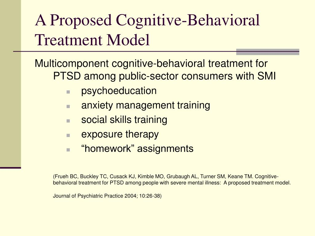 A Proposed Cognitive-Behavioral Treatment Model