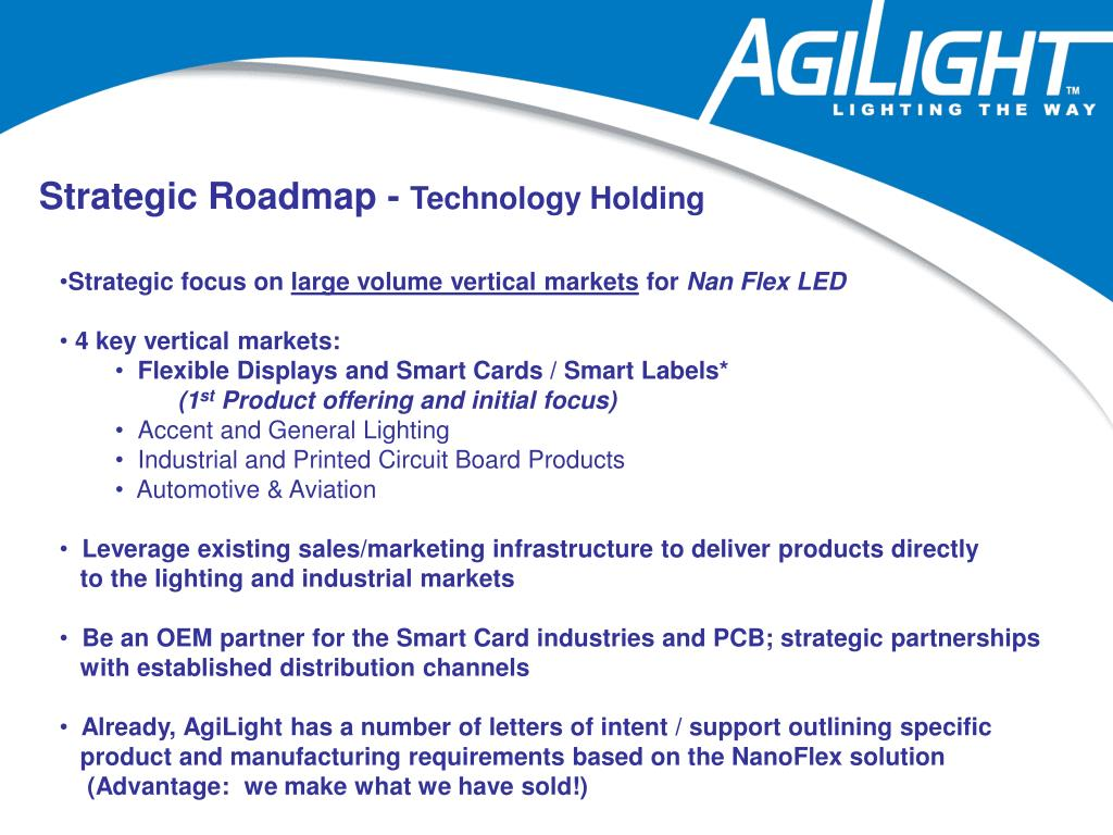 Strategic Roadmap -