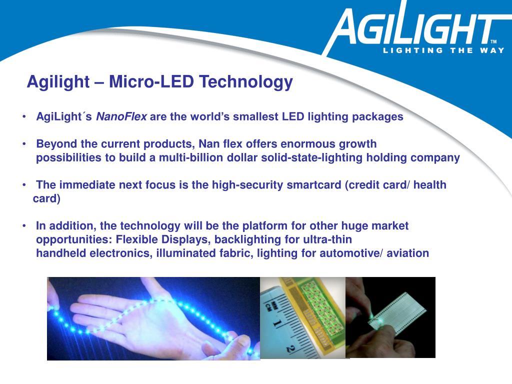 Agilight – Micro-LED Technology