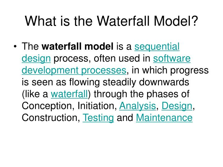 Ppt difference between structured analysis and object for What is waterfall methodology