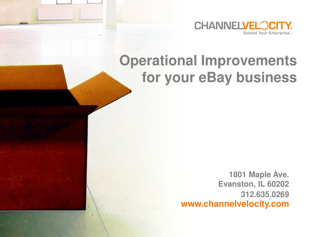 Operational Improvements for your eBay business