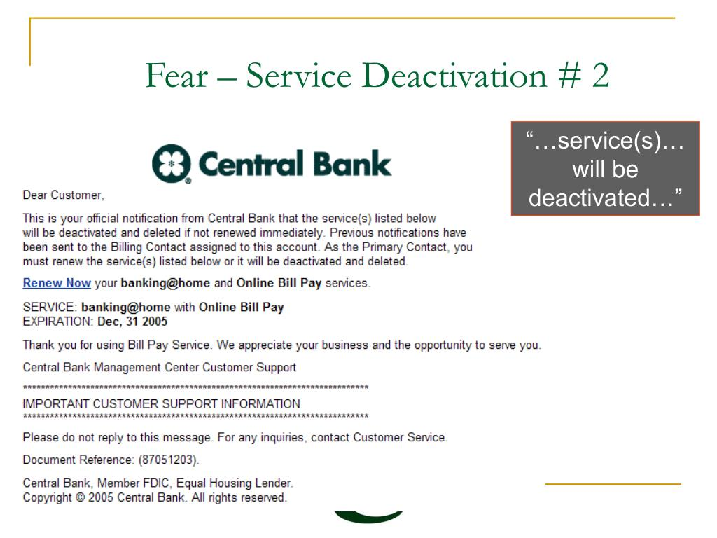 Fear – Service Deactivation # 2