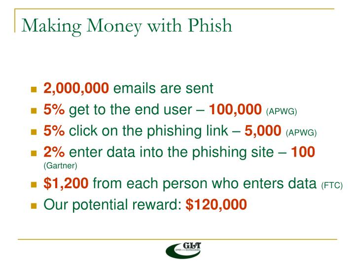 Making money with phish