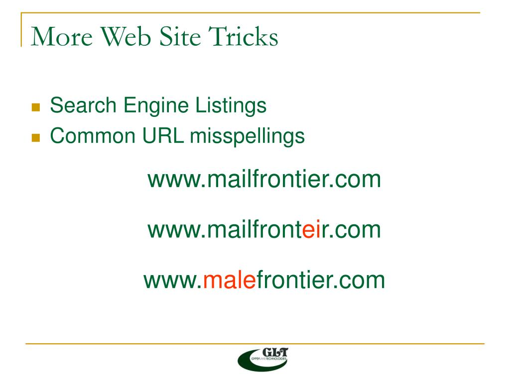 More Web Site Tricks