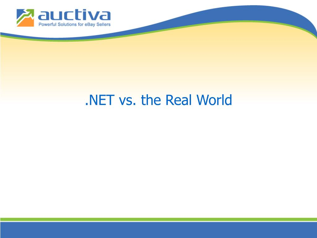 .NET vs. the Real World