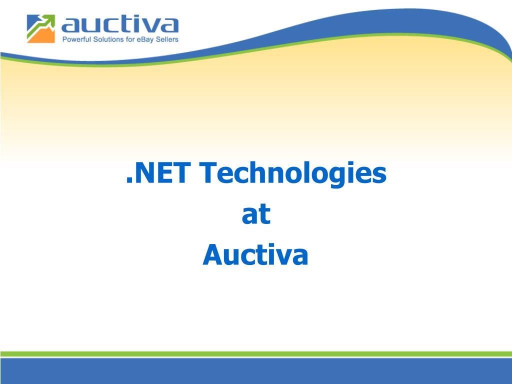 .NET Technologies