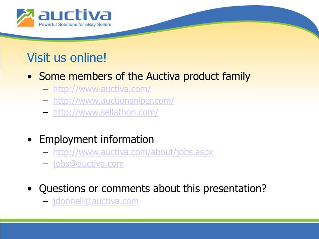 Visit us online!