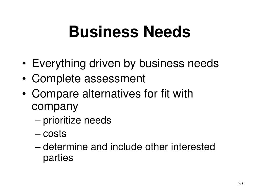 Business Needs