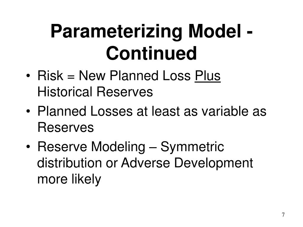 Parameterizing Model - Continued