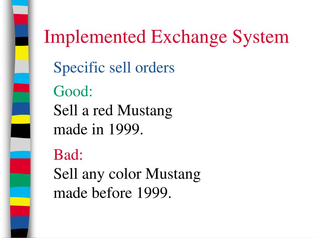 Implemented Exchange System