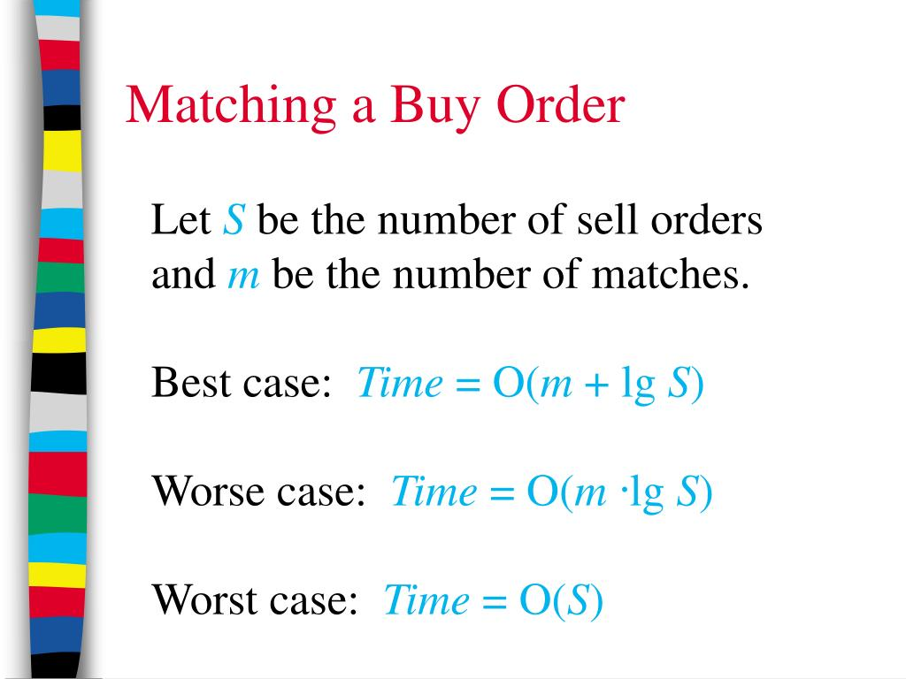 Matching a Buy Order
