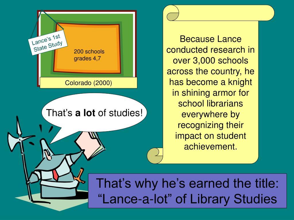 Lance's 1st State Study