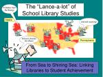 the lance a lot of school library studies12