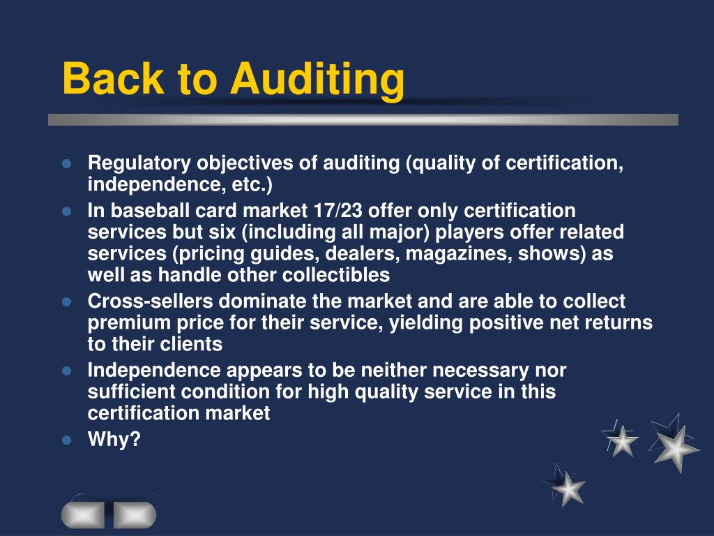 Back to Auditing