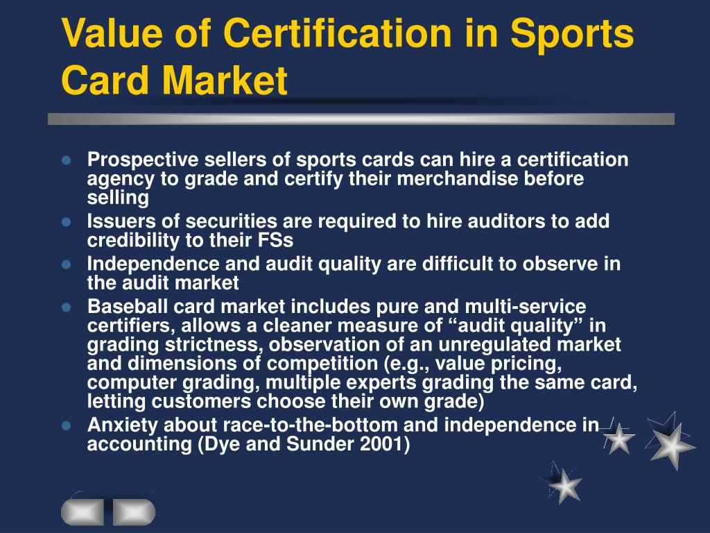 Value of Certification in Sports Card Market
