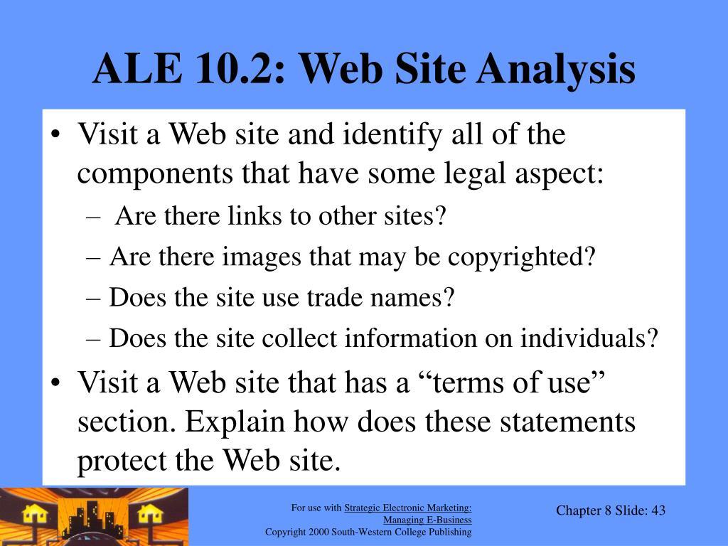 ALE 10.2: Web Site Analysis
