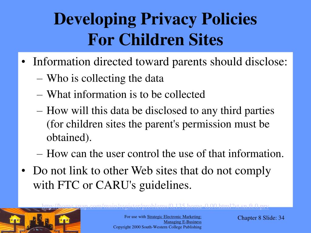 Developing Privacy Policies