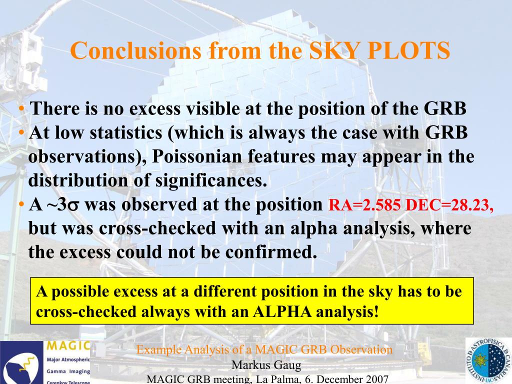 Conclusions from the SKY PLOTS