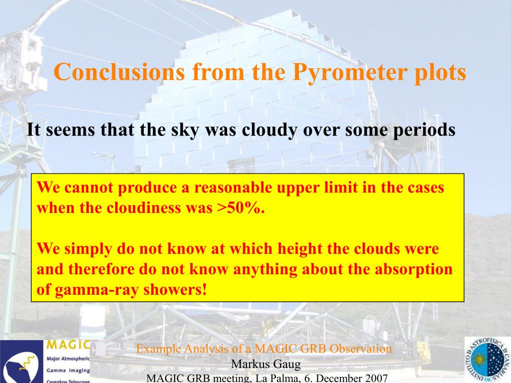 Conclusions from the Pyrometer plots