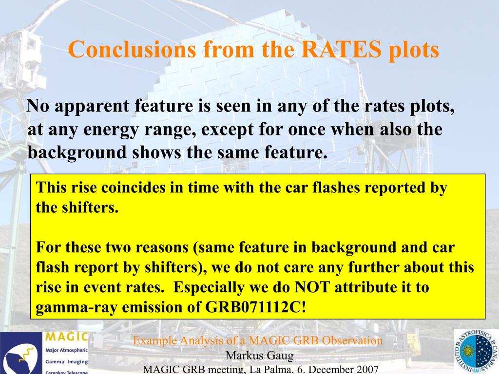 Conclusions from the RATES plots