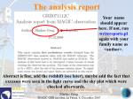 the analysis report156