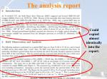 the analysis report161