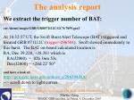 the analysis report165