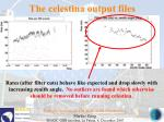 the celestina output files139