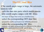 the ul root files