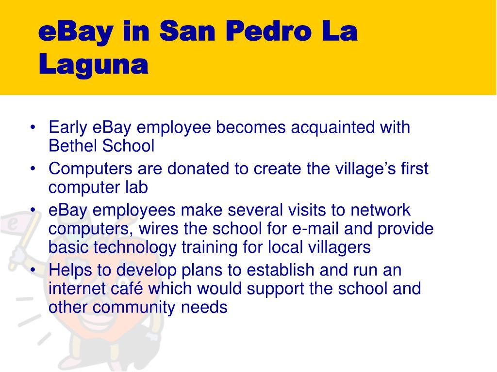 eBay in San Pedro La Laguna