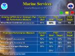 marine services goals targets to fy 12