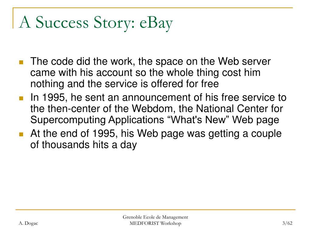 A Success Story: eBay
