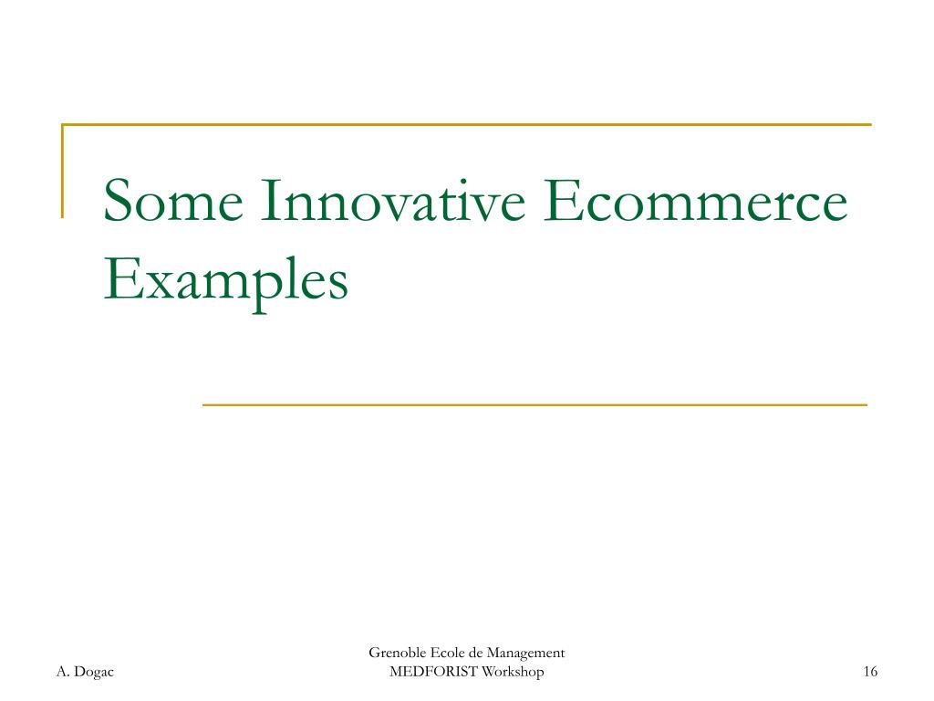 Some Innovative Ecommerce Examples