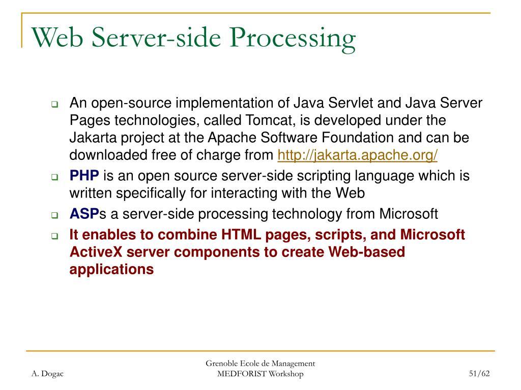Web Server-side Processing