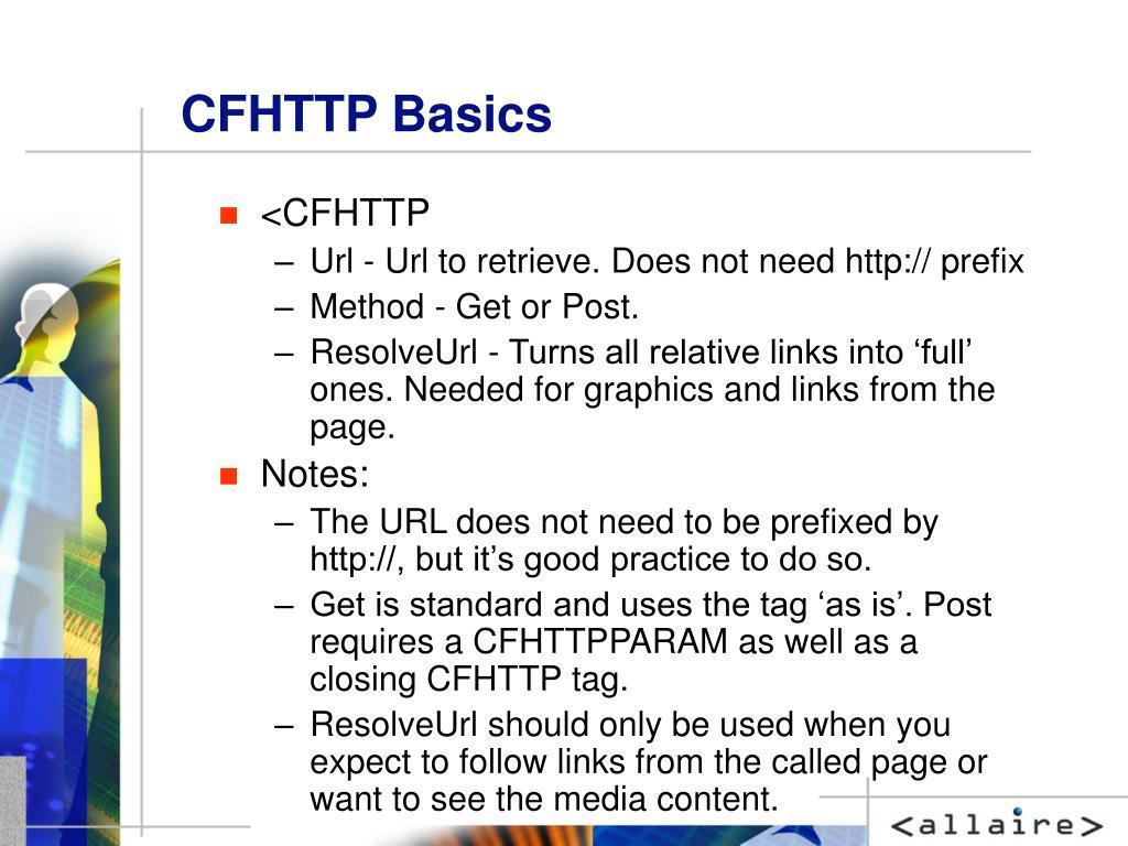 CFHTTP Basics