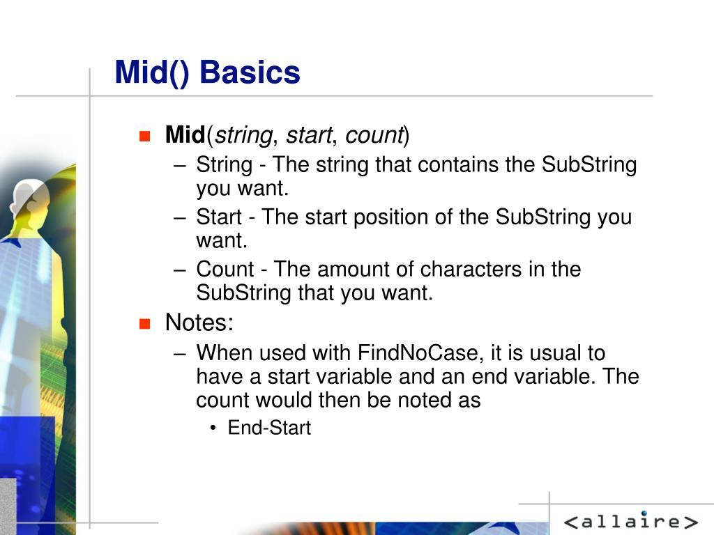 Mid() Basics