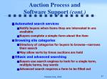 auction process and software support cont