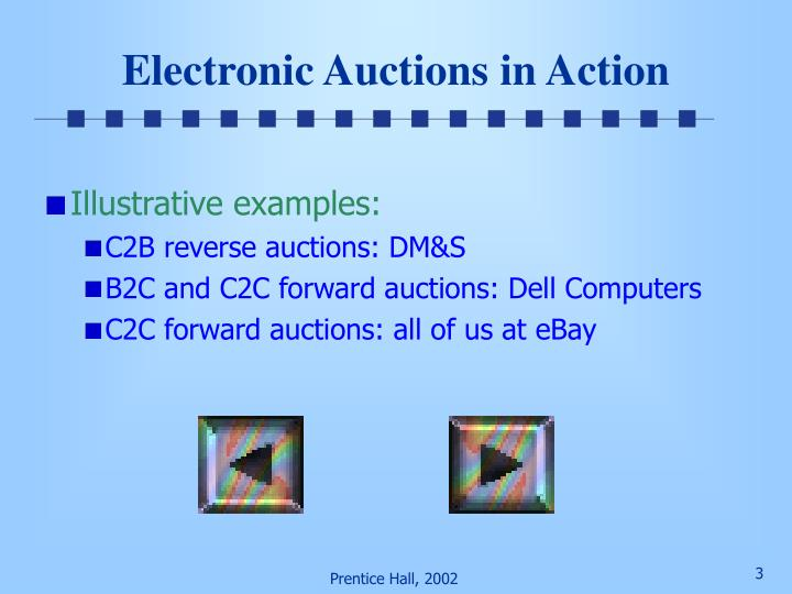 Electronic auctions in action